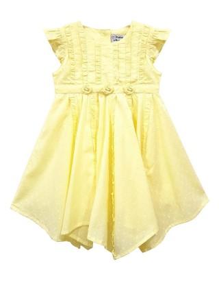 Toddlers Lemon Rose Ruffle Dress (Pack of 8)