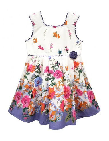 Toddlers Floral Border Print Sun Dress (Pack of 8)