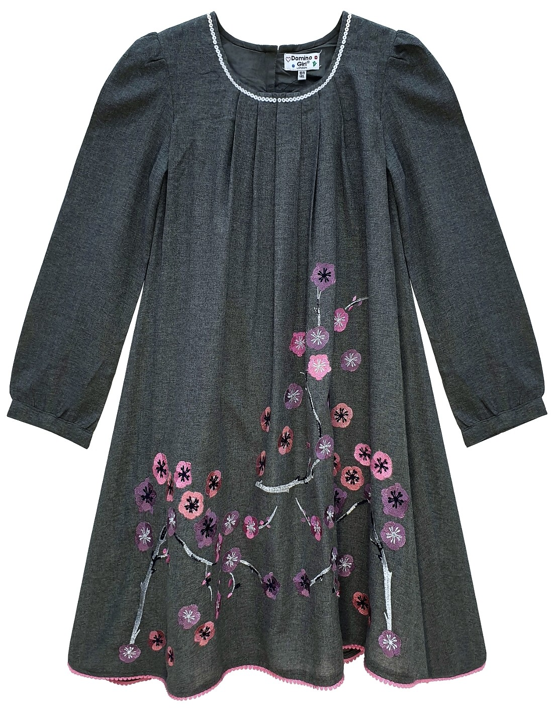 Girls Butterfly Embroidered Sequin Cotton Dress 3//4 year to 10//11 year